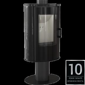 Печь-камин Kratki Koza AB S/N/O Glass кафель черный