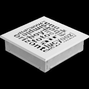 Решетка KRATKI ABC белая 17х17 см