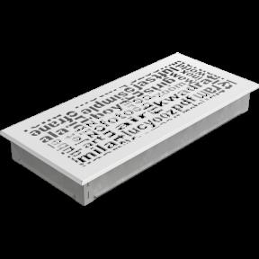 Решетка KRATKI ABC белая 17х37 см