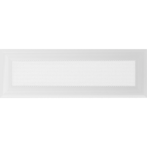 Решетка KRATKI Oskar белый (покрашенная) 11х32 см