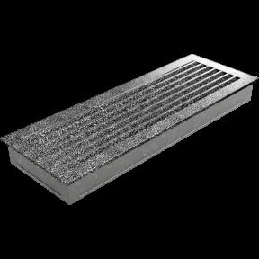 Решетка KRATKI FRESH чёрно-серебрянная 17х49 см