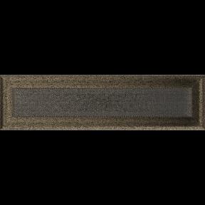 Решетка KRATKI Oskar чёрно-золотой (покрашенная) 11х42 см