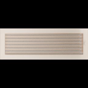Решетка KRATKI бежевая (покрашенная) 17х49 см с жалюзями