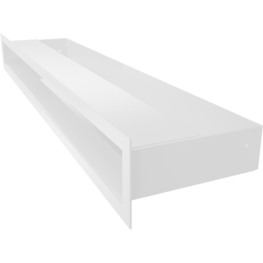 Решетка KRATKI люфт белая 6х60 см