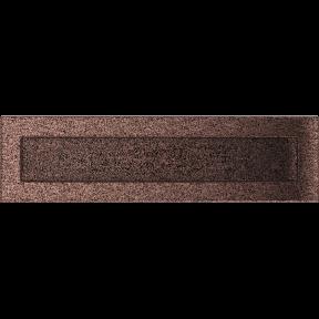 Решетка KRATKI медная (покрашенная) 11х42 см