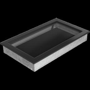 Решетка KRATKI чёрная (покрашенная) 22х37 см