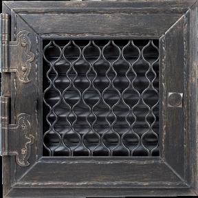 Решетка Kratki RETRO графитовая 22х22 см одни дверцы выдвижная