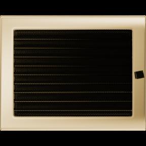 Решетка KRATKI позолоченная 22х30 см c жалюзями