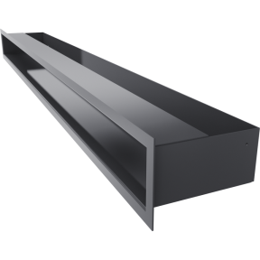 Решетка KRATKI люфт графитовая 9х100 см