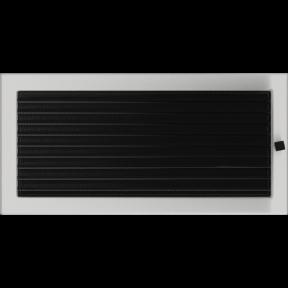 Решетка KRATKI шлифованная 22х45 см с жалюзями