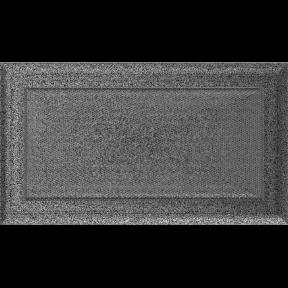Решетка KRATKI Oskar чёрно-серебряный (покрашенная) 17х30 см