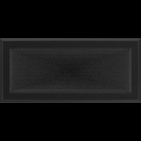 Решетка KRATKI Oskar чёрный (покрашенная) 17х37 см
