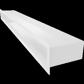 Решетка KRATKI люфт белая 9х100 см