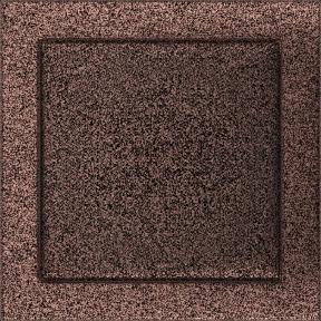 Решетка KRATKI медная (покрашенная) 22х22 см