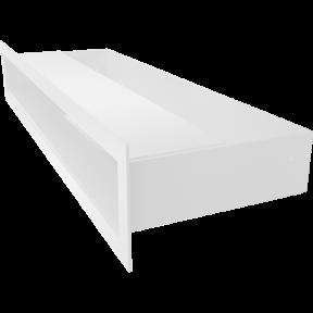 Решетка KRATKI люфт белая 6х40 см