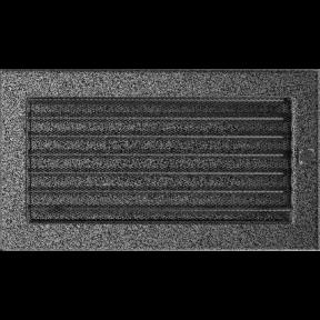 Решетка KRATKI чёрное серебро (покрашенная) 17х30 см с жалюзями