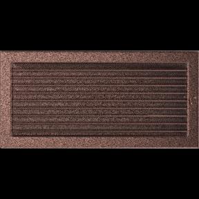Решетка KRATKI медная (покрашенная) 22х45 см с жалюзями