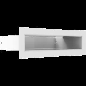 Решетка KRATKI люфт белая 6х20 см