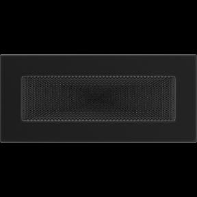 Решетка KRATKI чёрная (покрашенная) 11х24 см
