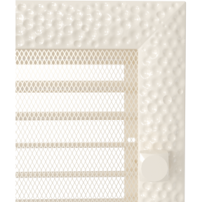 Решетка KRATKI Venus бежевый (покрашенная) 17х49 см с жалюзями