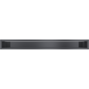 Решетка KRATKI люфт графитовая 9х80 см