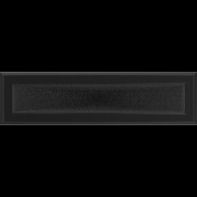 Решетка KRATKI Oskar чёрный (покрашенная) 11х42 см