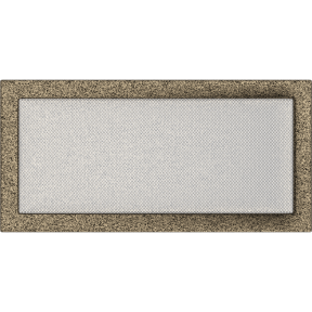 Решетка KRATKI чёрное золото (покрашенная) 22х45 см