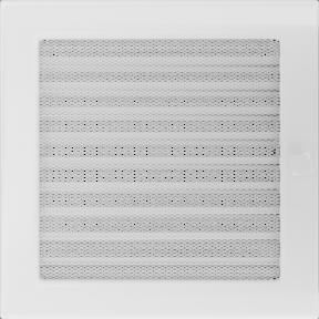 Решетка KRATKI белая (покрашенная) 22х22 см с жалюзями
