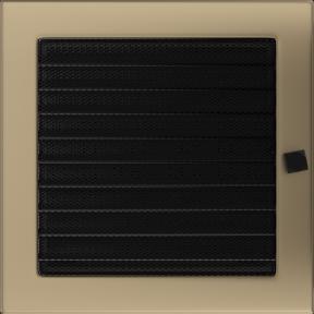 Решетка KRATKI золото гальваническое 22х22 см c жалюзями