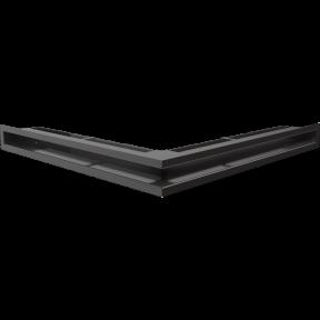 Решетка KRATKI люфт угловой чёрная 560х560х90 см