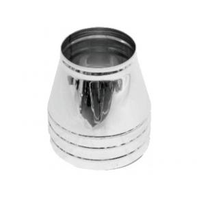 Конус нерж/нерж Версия Люкс D-100/160 мм толщ. 0,6 мм
