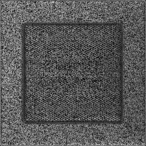 Решетка KRATKI чёрное серебро (покрашенная) 17х17 см