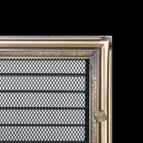 Решетка KRATKI рустыкальная 22х22 см c жалюзями
