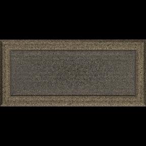Решетка KRATKI Oskar чёрно-золотой (покрашенная) 17х37 см