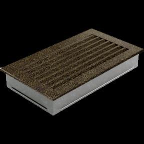 Решетка KRATKI FRESH чёрно-золотая 17х30 см