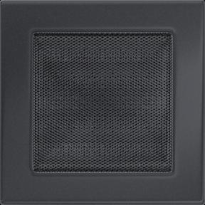 Решетка KRATKI графитовая (покрашенная) 17х17 см