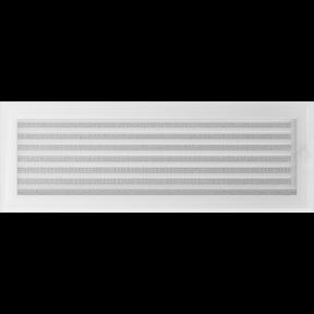 Решетка KRATKI Oskar белый (покрашенная) 17х49 см с жалюзями