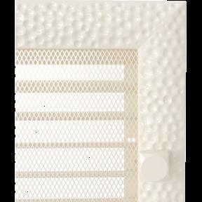 Решетка KRATKI Venus бежевый (покрашенная) 17х37 см с жалюзями