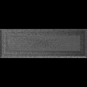 Решетка KRATKI Oskar чёрно-серебряный (покрашенная) 11х32 см