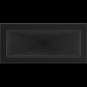 Решетка KRATKI чёрная (покрашенная) 17х37 см