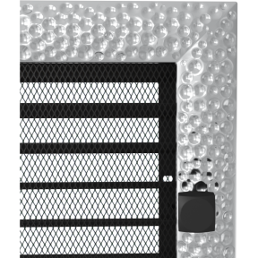Решетка KRATKI Venus никелированый 22х45 см с жалюзями