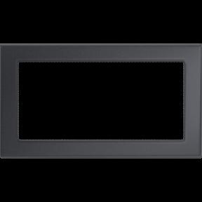 Решетка KRATKI графитовая (покрашенная) 17х30 см