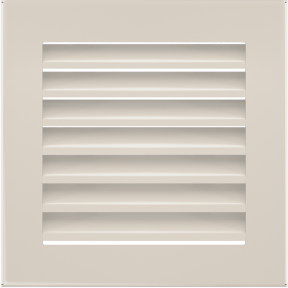 Решетка KRATKI бежевая (покрашенная) 17х17 см с жалюзями