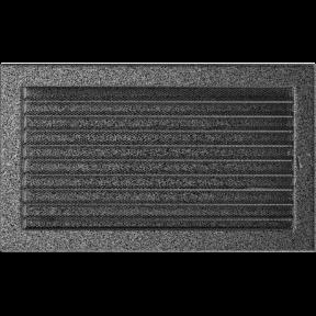 Решетка KRATKI чёрное серебро (покрашенная) 22х37 см с жалюзями