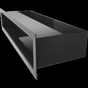 Решетка KRATKI люфт чёрная 9х60 см