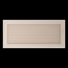 Решетка KRATKI Oskar бежевый (покрашенная) 17х37 см с жалюзями