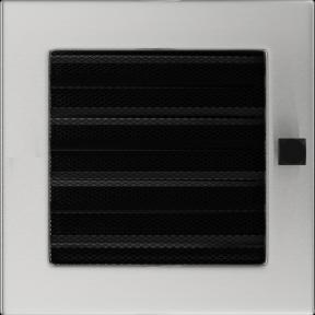 Решетка KRATKI шлифованная 17х17 см с жалюзями