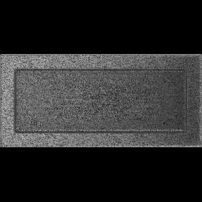 Решетка KRATKI чёрное серебро (покрашенная) 17х37 см