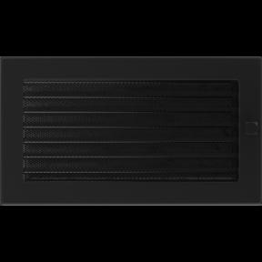 Решетка KRATKI чёрная (покрашенная) 17х30 см с жалюзями