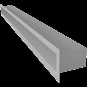 Решетка KRATKI туннель белая 6х80 см